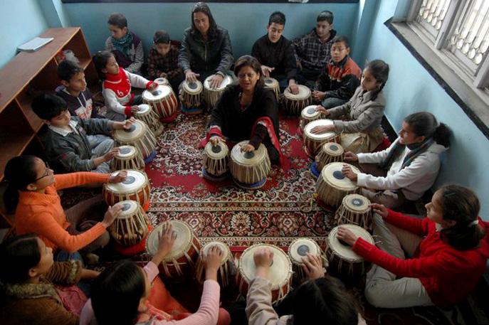 Sarita Mishra tabla lesson